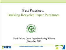 Tracking Recycled Paper